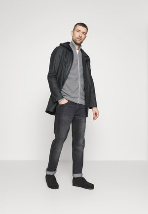 GAVIN ZIP - Cardigan - anthracite