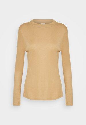 NMELENA LONG SLEEVE - Long sleeved top - brown sugar