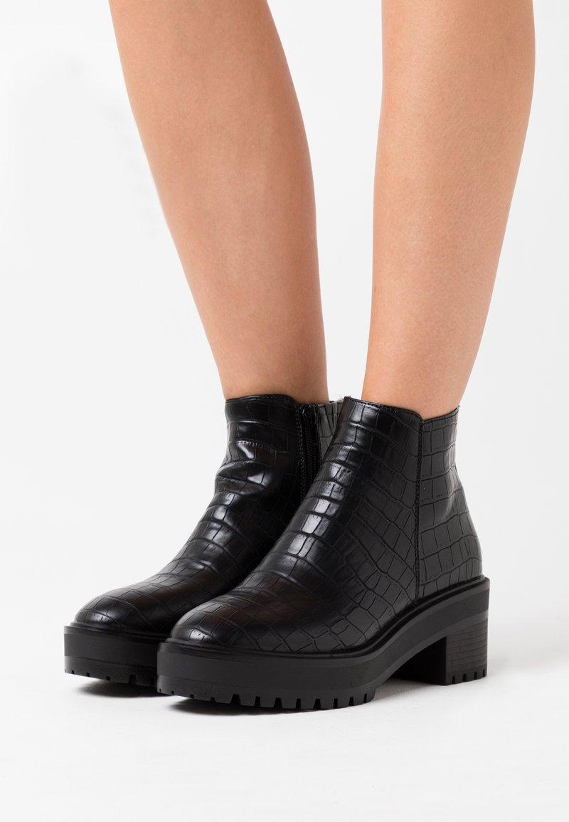 Vero Moda Wide Fit - VMMELBA WIDE FIT - Korte laarzen - black