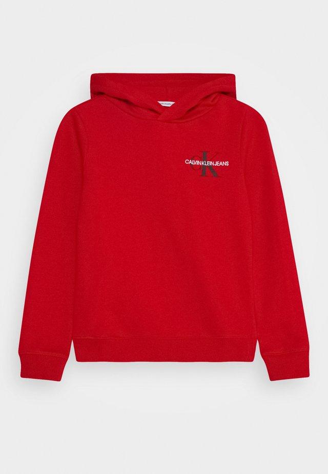 SMALL MONOGRAM HOODIE UNISEX - Hoodie - red