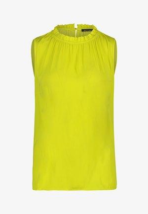 MIT GEKRÄUSELTEM AUSSCHNITT - Blouse - neon yellow