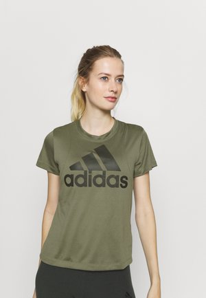 LOGO TEE - Print T-shirt - olive