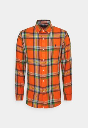 PLAID - Shirt - orange/blue