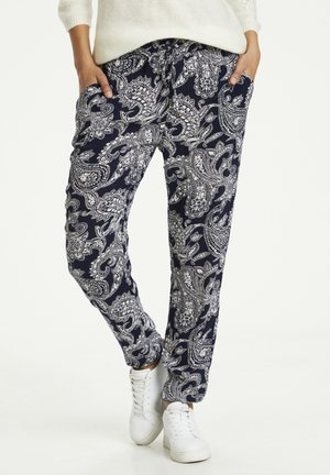 ROKA AMBER PANTS - Trousers - midnight marine new paisley