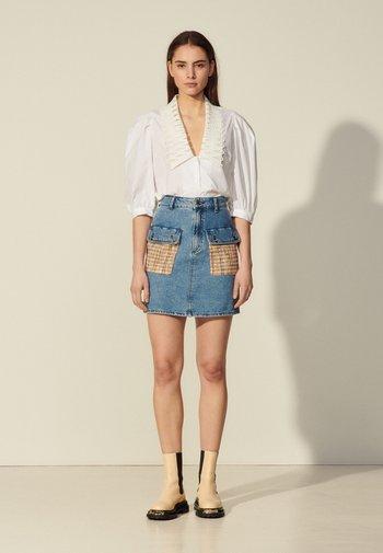 FIORINA - Mini skirt - bleu denim