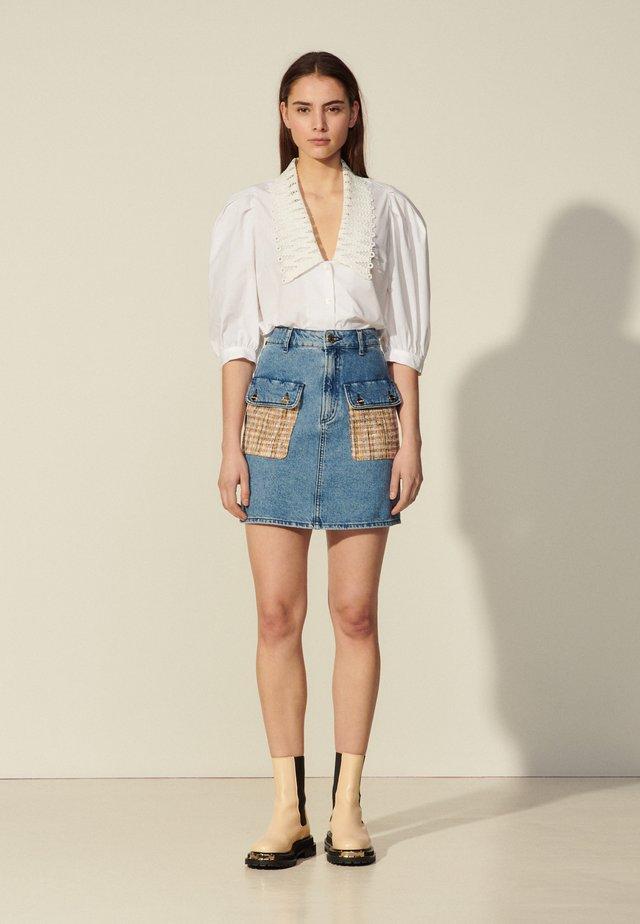 FIORINA - Spódnica mini - bleu denim