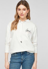 comma - Hoodie - white placed print - 4
