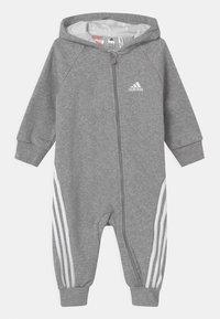 adidas Performance - ONESIE UNISEX - Jumpsuit - medium grey heather/white - 0