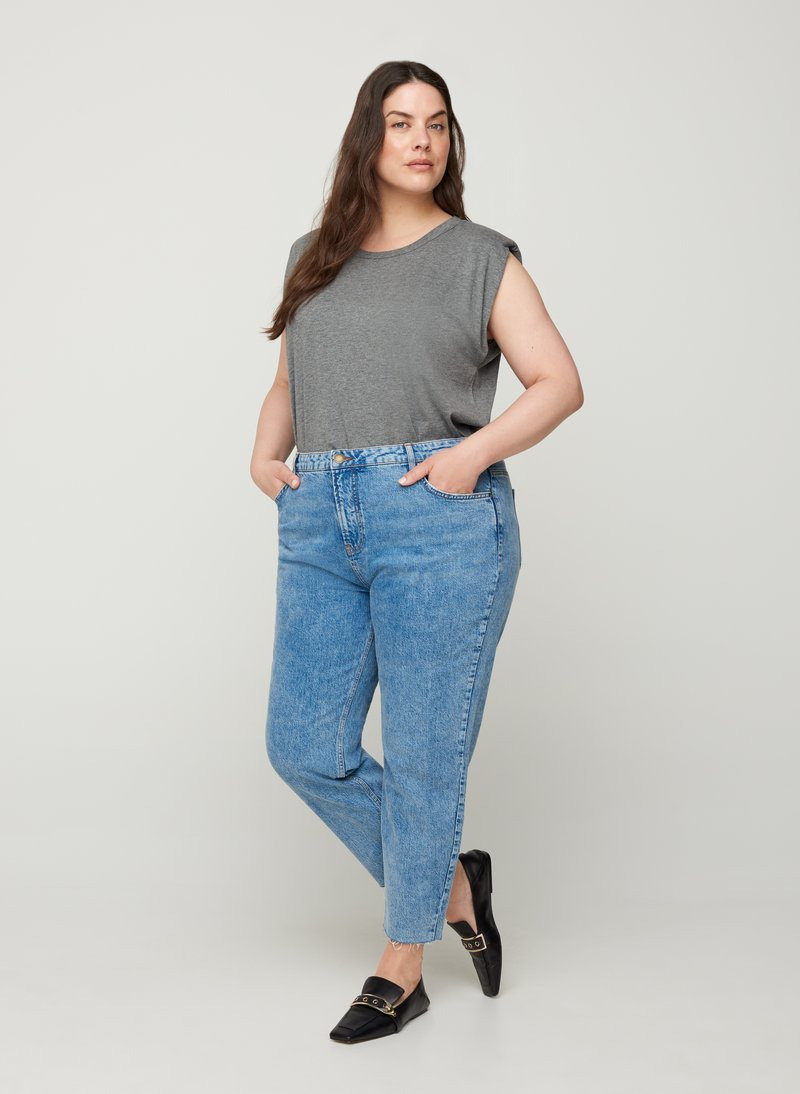 Zizzi - Relaxed fit jeans - light blue