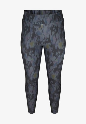 Leggings - Trousers - black aop