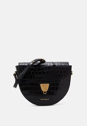 BEAT CROCO SHINY SOFT - Across body bag - noir