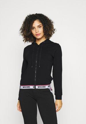 ZIPPED HOODIE - Pyjama top - black