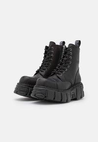 New Rock - UNISEX - Platform ankle boots - black - 1