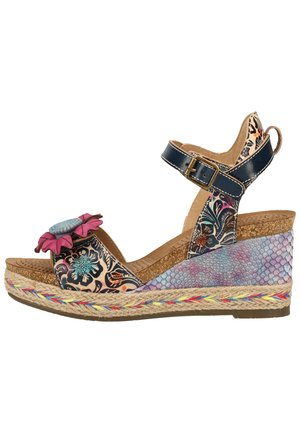 LAURA VITA SANDALEN - Wedge sandals - jeans