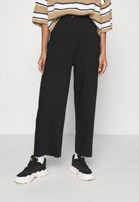 Weekday - JINA TROUSER - Trousers - black dark - 0