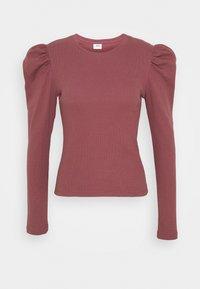 JDY - JDYCEREN PUFF SLEEVE - Long sleeved top - rose brown - 0