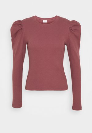 JDYCEREN PUFF SLEEVE - Long sleeved top - rose brown