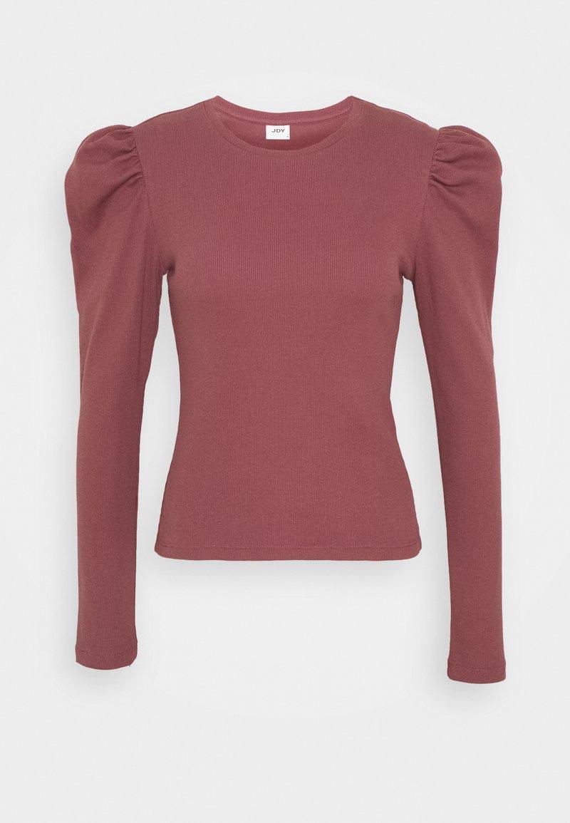 JDY - JDYCEREN PUFF SLEEVE - Long sleeved top - rose brown