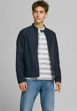 Faux leather jacket - dark navy