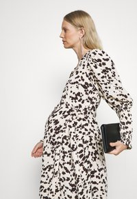 Glamorous Bloom - WRAP DRESS WITH TIE DETAIL - Maxi dress - cream brown abstract - 3