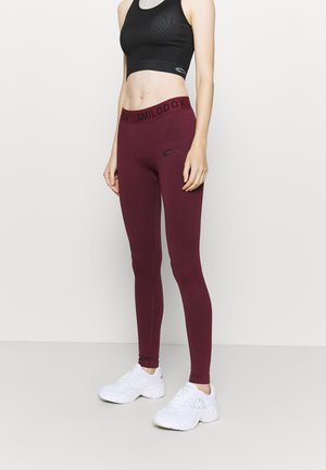 SEAMLESS STAIN - Leggings - bordeaux