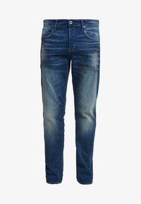 G-Star - 3301 STRAIGHT FIT - Straight leg jeans - joane stretch denim - worker blue faded - 4