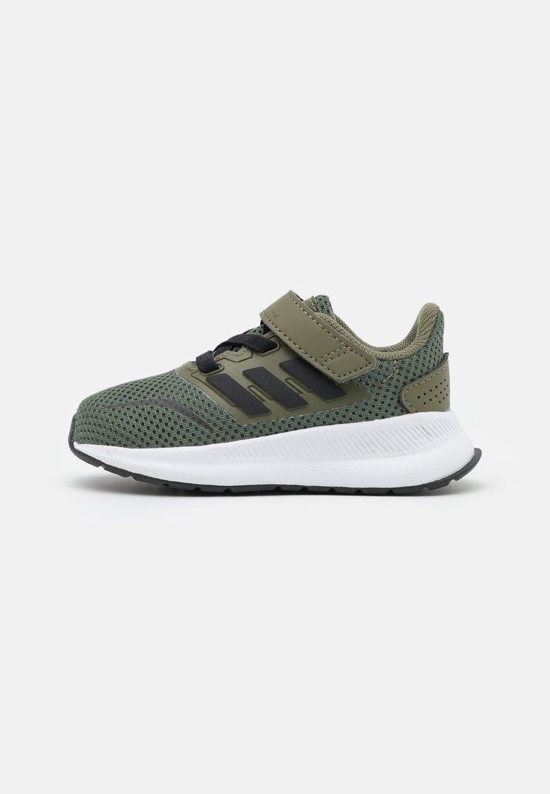 adidas Performance - RUNFALCON I UNISEX - Neutral running shoes - raw khaki/core black/footwear white