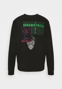 Urban Threads - FRONT AND BACK GRAPHIC LONG SLEEVE TEE UNISEX - Long sleeved top - black - 7