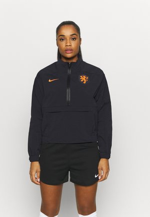 NIEDERLANDE KNVB MIDLAYER  - Pelipaita - black/safety orange
