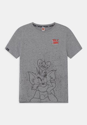 Print T-shirt - dark grey melange