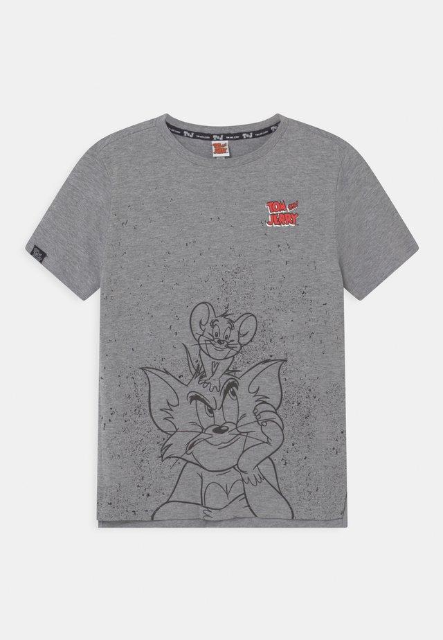 Print T-shirt - dark grey melange