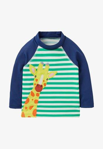 LONG SLEEVE - Rash vest - baumgrün/naturweiß, giraffe