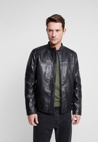 Strellson - BRIXTON - Leather jacket - black - 0