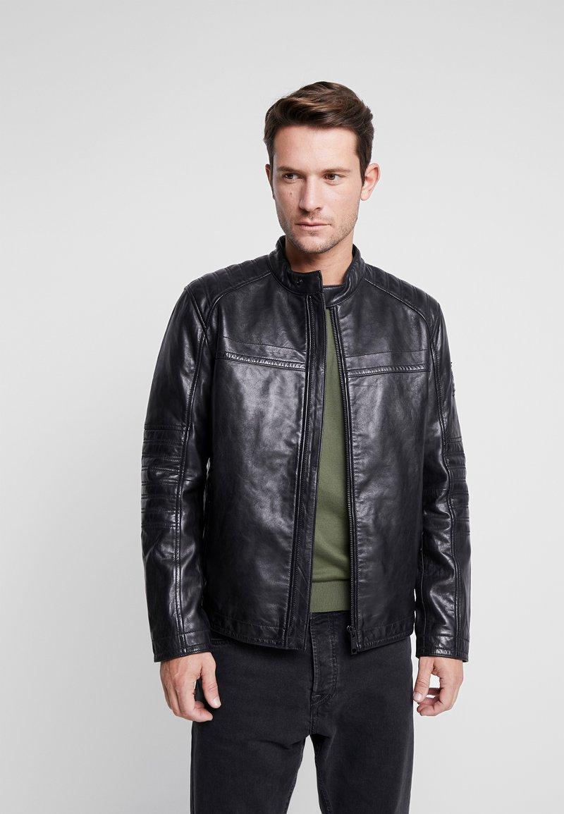 Strellson - BRIXTON - Leather jacket - black