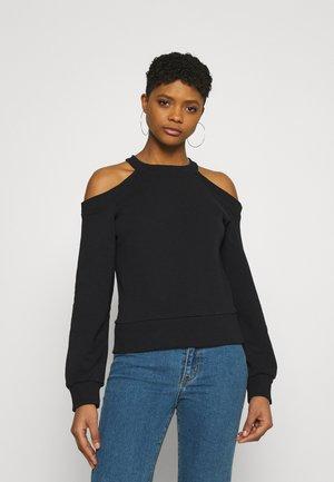 COLD SHOULDERS SWEATSHIRT   - Sweatshirt - black