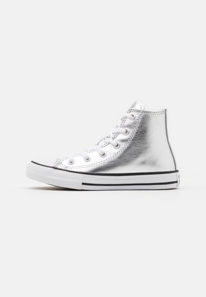 CHUCK TAYLOR ALL STAR - Korkeavartiset tennarit - metallic granite/white/black