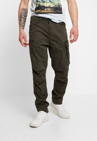 G-Star - ROXIC TAPERED FIT CARGO - Pantalones chinos - asfalt - 0
