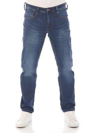 REAL X OREGON - Slim fit jeans - denim blue