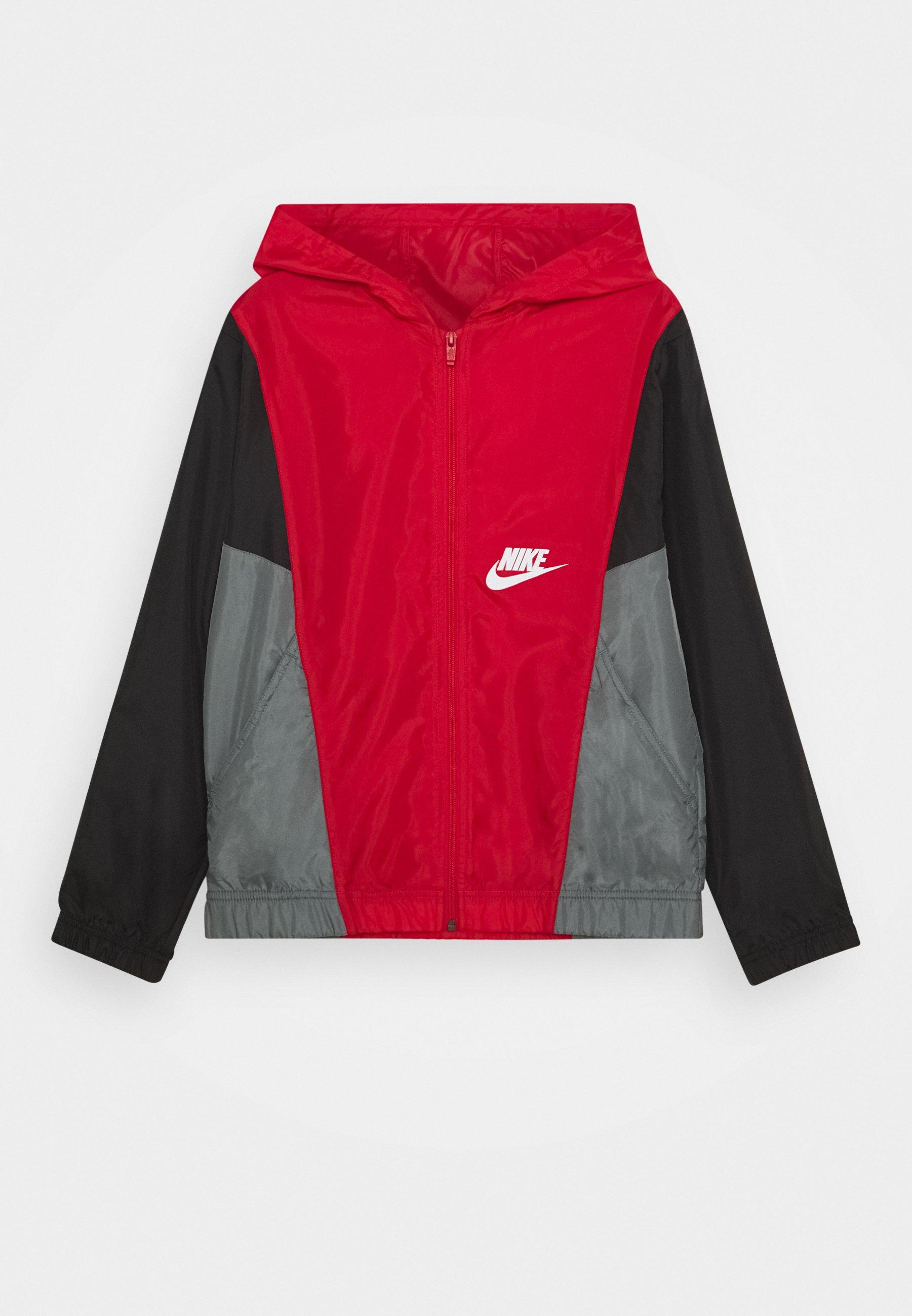 Nike Sportswear Hettejakke - black/university red