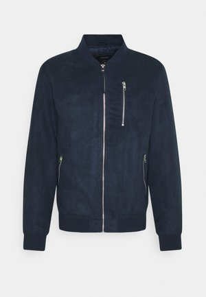 JJFLAKE  - Giubbotto Bomber - navy blazer/faux suede