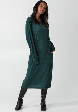 YASMINE - Gebreide jurk - deepteal