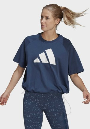 ADIDAS SPORTSWEAR ADJUSTABLE BADGE OF SPORT T-SHIRT - Print T-shirt - blue