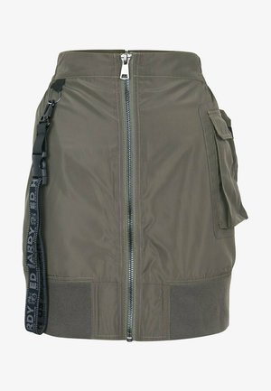 JUNGLE PATCH  - Pencil skirt - dusty olive
