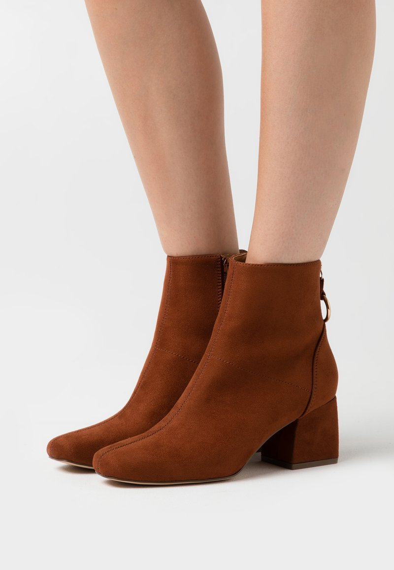 ONLY SHOES - ONLBILLIE LIFE HEELED BOOT  - Botines - rust
