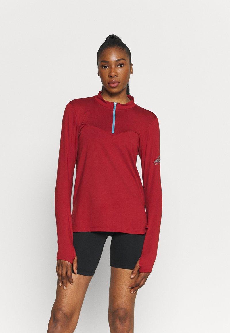 Nike Performance - ELEMENT TRAIL MIDLAYER - Funktionsshirt - dark cayenne