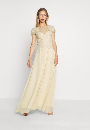 LADIES WOVEN DRESS - Vestido de fiesta - nude