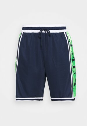 DNA SHORT - Sports shorts - college navy/lime glow