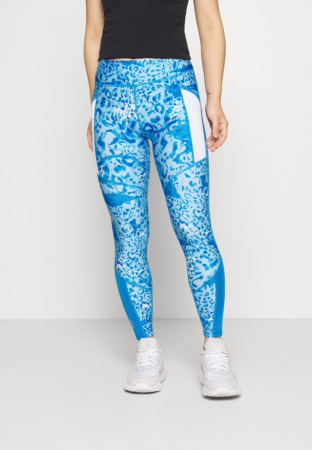 ONPANGILIA LIFE - Leggings - imperial blue/white/imperial blue