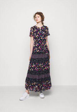 PRINTED GEORGETTE DRESS - Maxi šaty - lighthouse navy