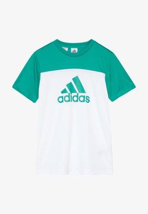 TEE - T-shirts print - white/green
